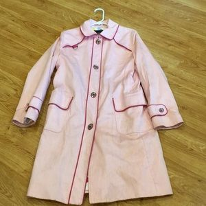 Used Condition Pink Coach Trench Coat